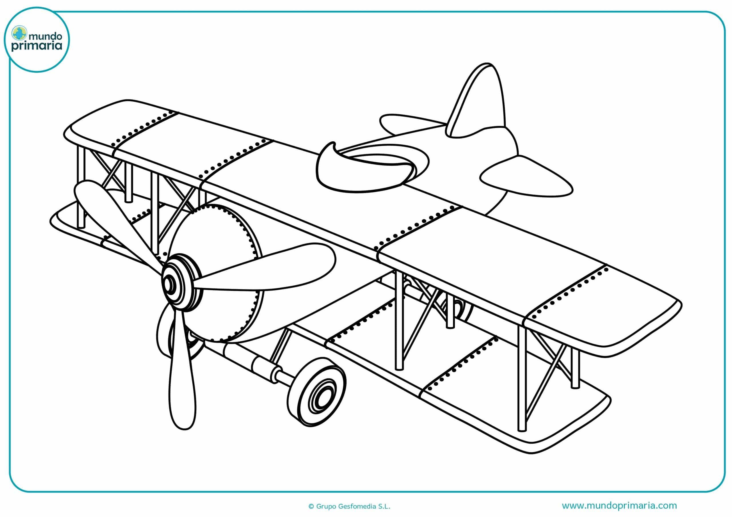 Dibujos colorear aviones