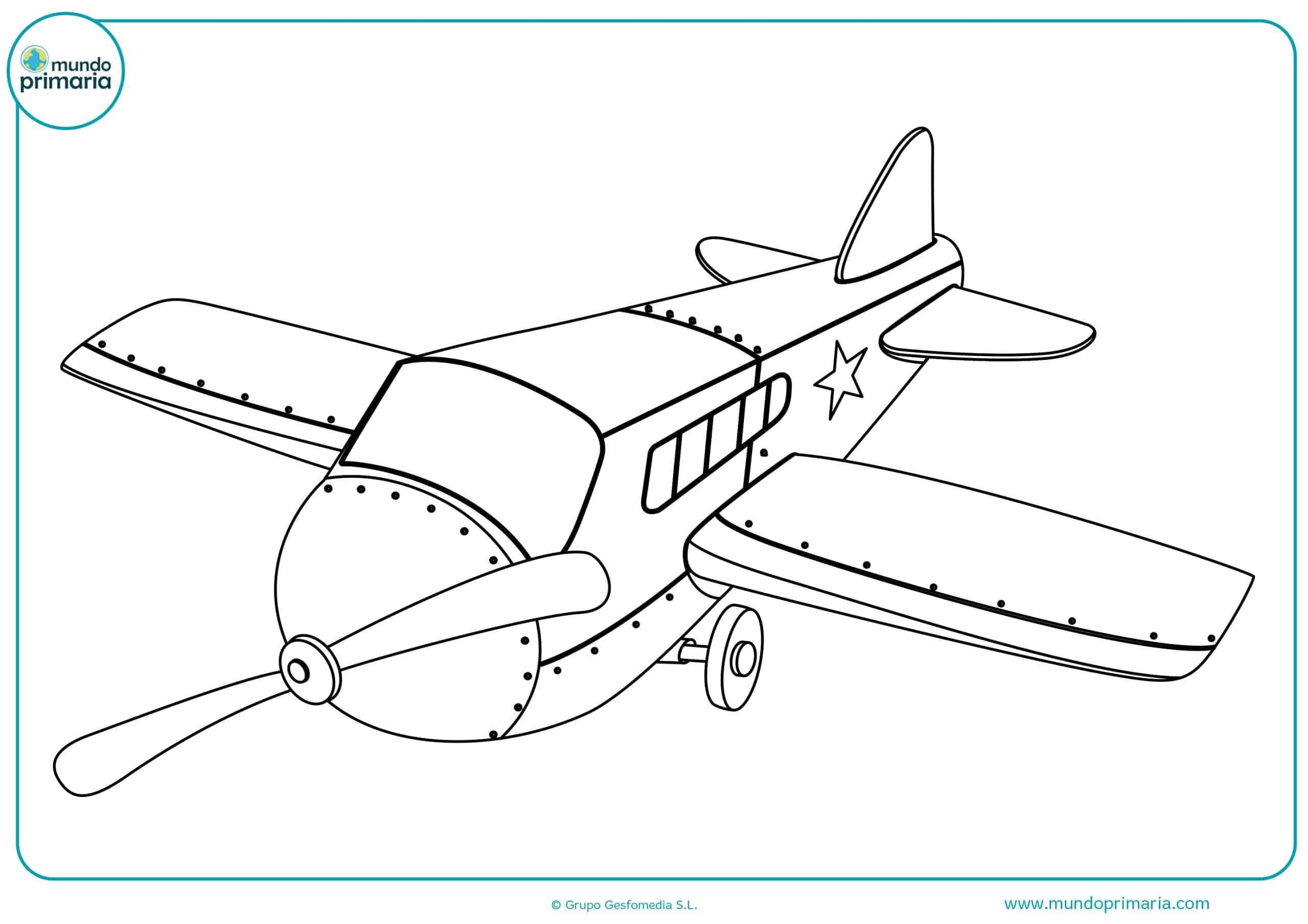 Dibujos aviones colorear