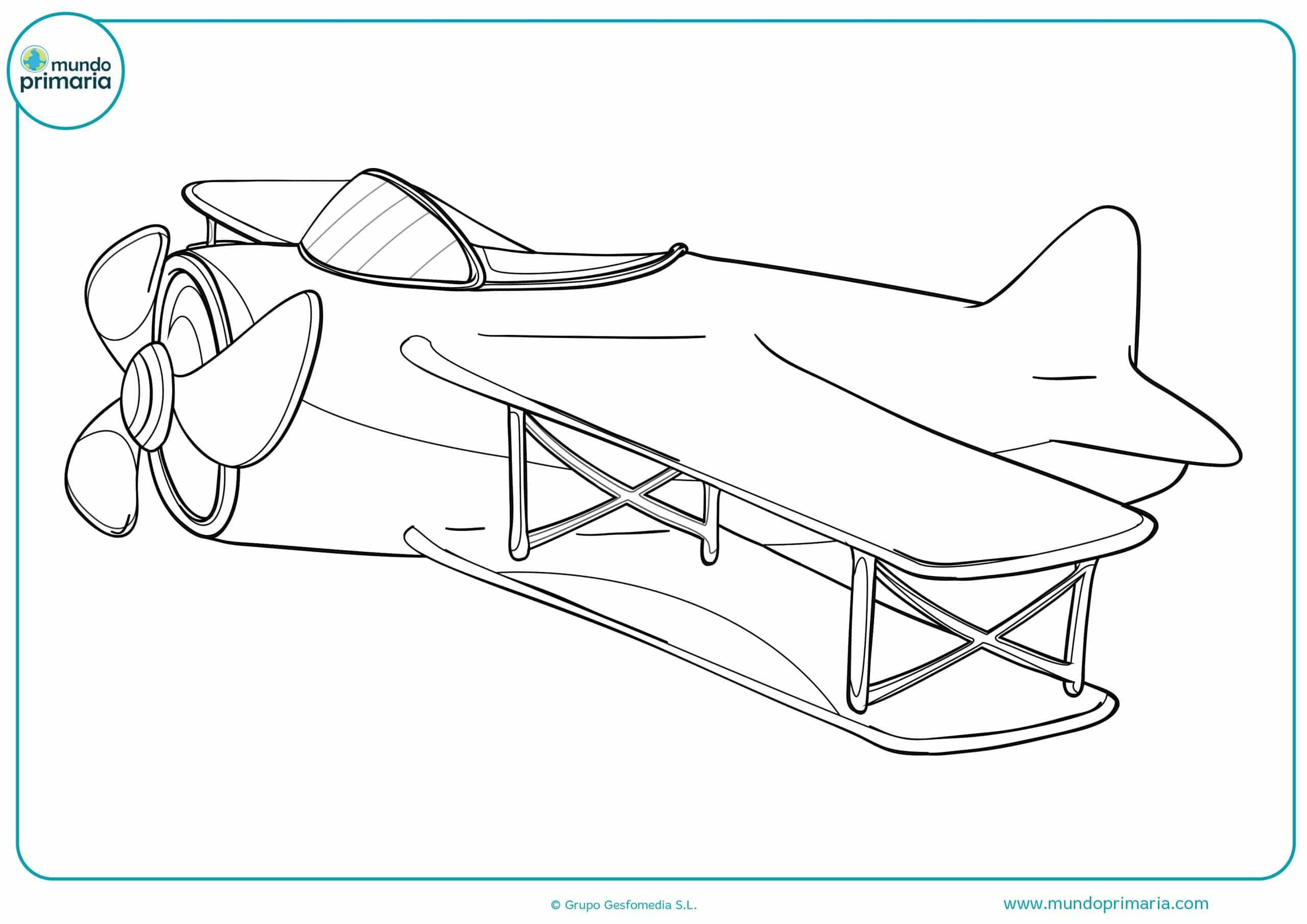 Colorear dibujos aviones