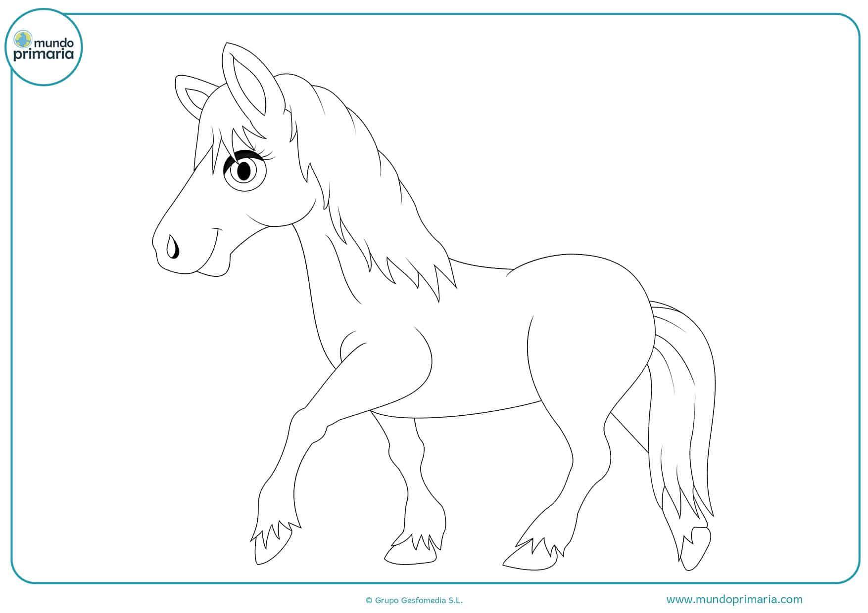 Dibujos colorear caballos niños