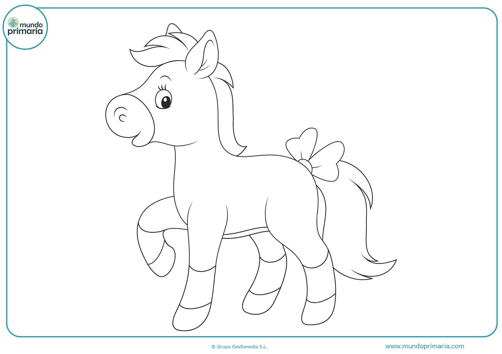 Colorear dibujos caballos