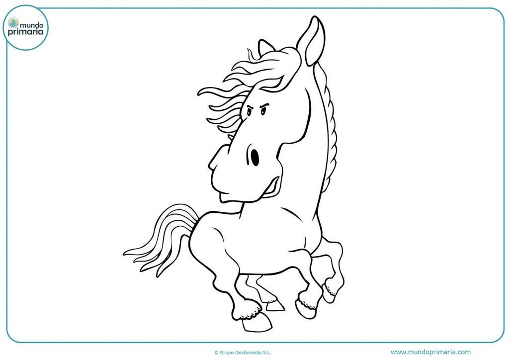 Dibujo de un caballo galopando para pintar