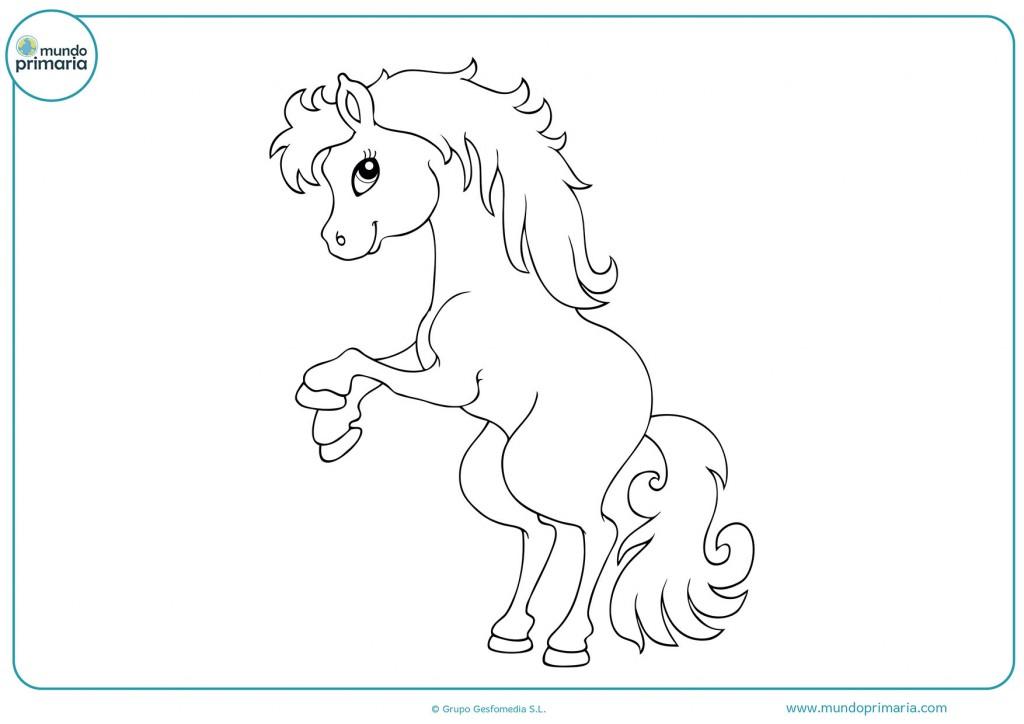 Descarga y colorea el caballo grande
