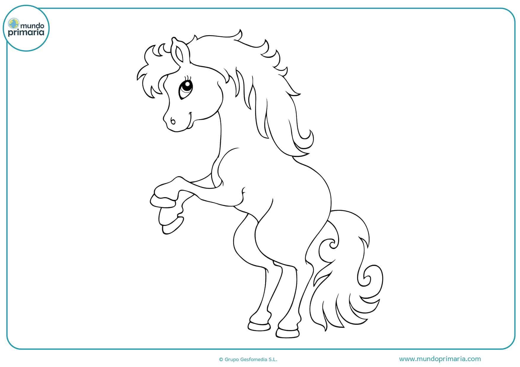 Dibujos colorear caballos niñas