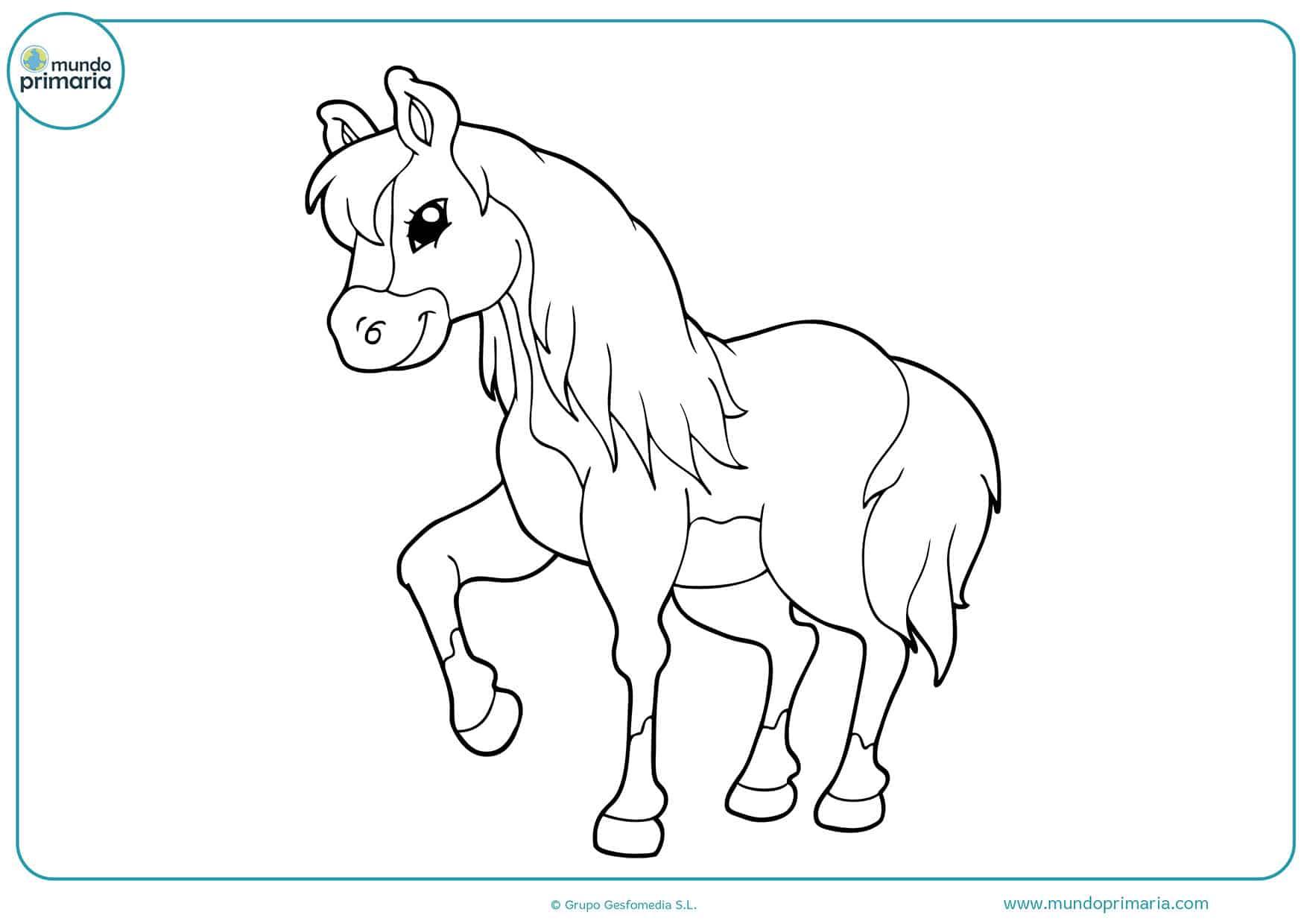 Dibujos caballos colorear infantiles
