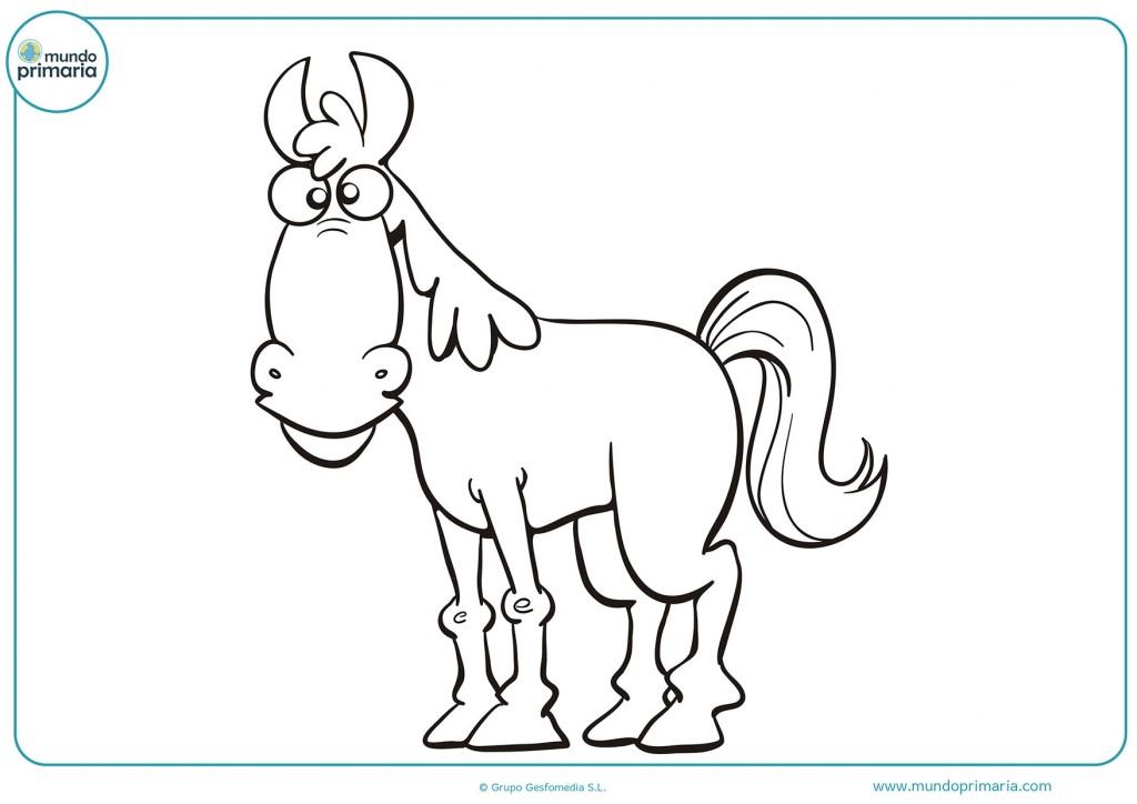Colorea el caballo que se encuentra de perfil