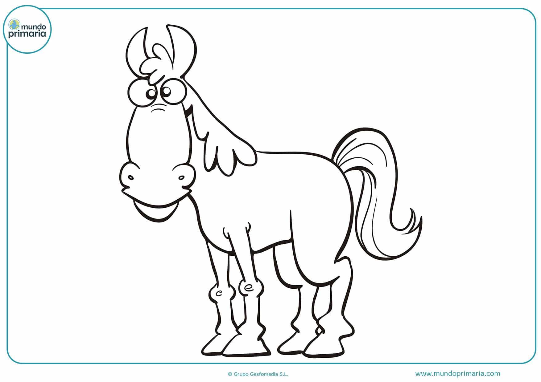 Dibujos caballos colorear para imprimir