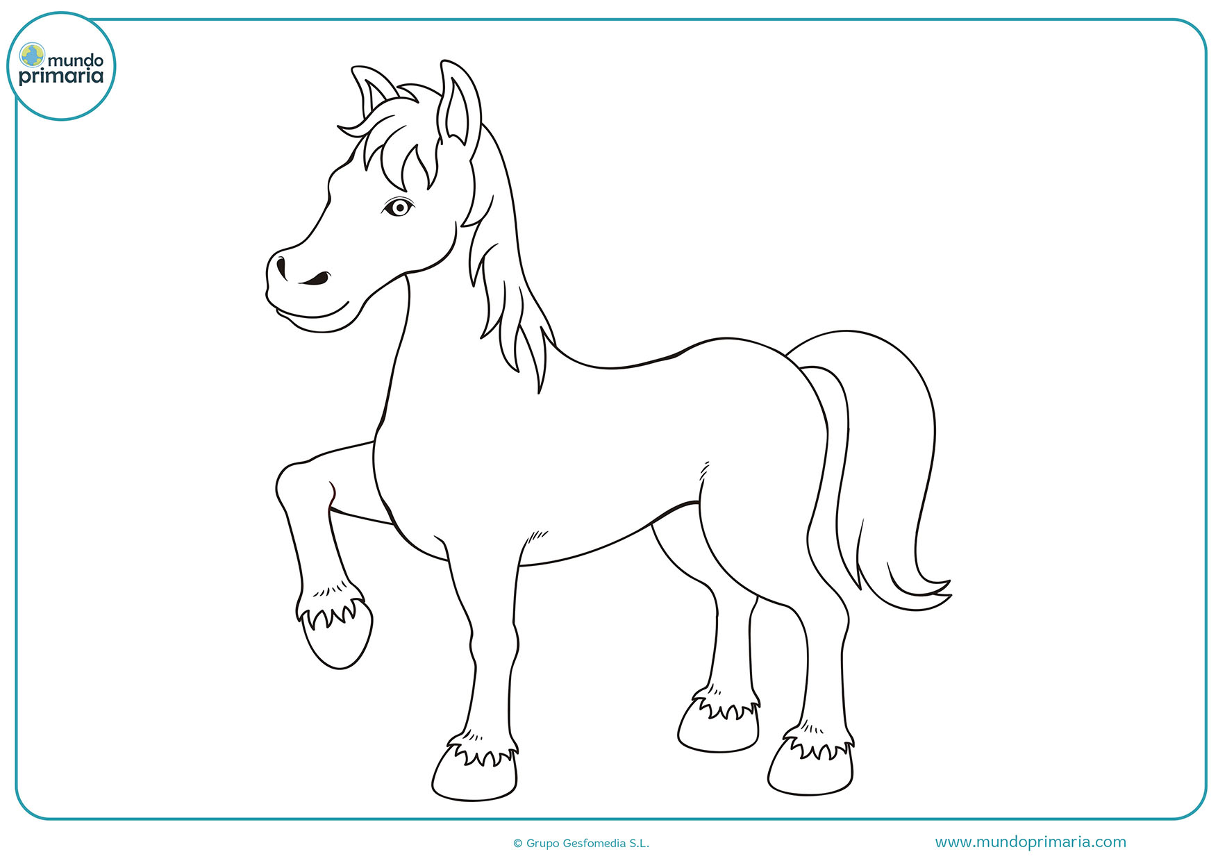 Dibujos colorear caballos para pintar