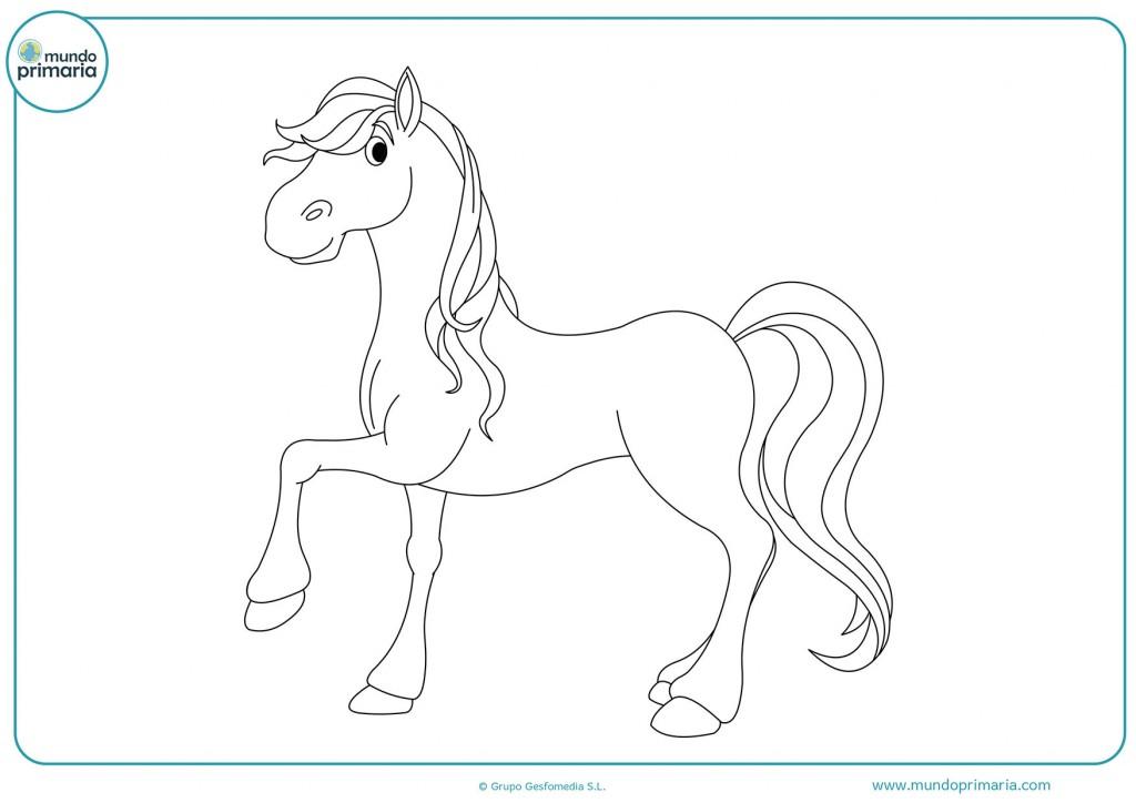Descarga este dibujo de un caballo en tres patas