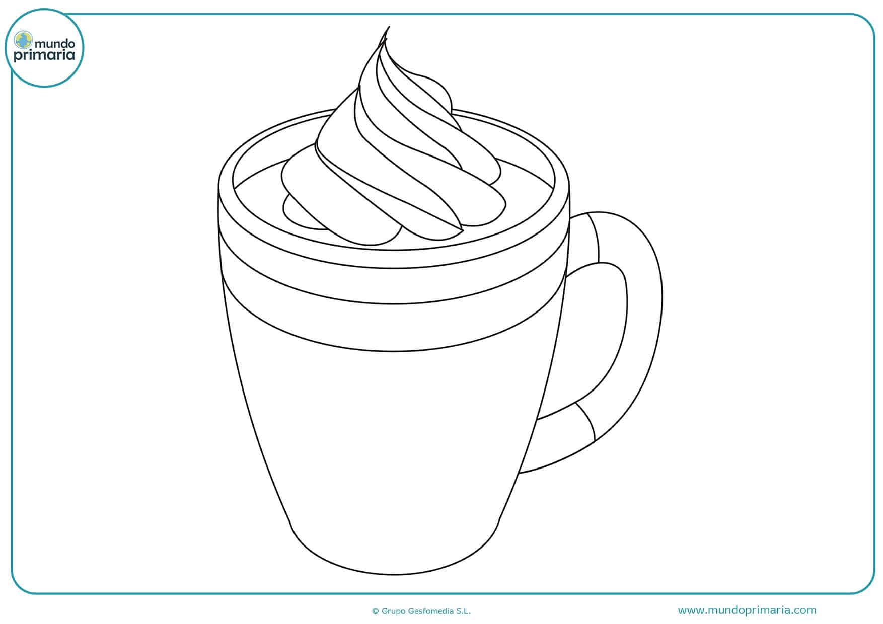 Colorear dibujos bebidas gratis