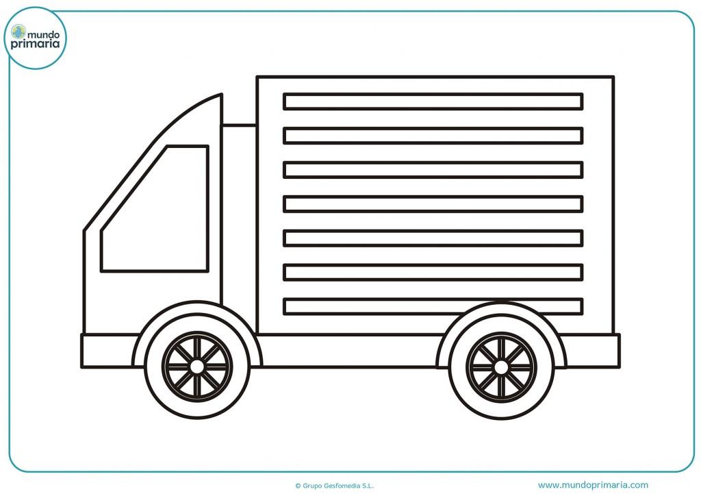Dibujo de un camión para pintar con colores