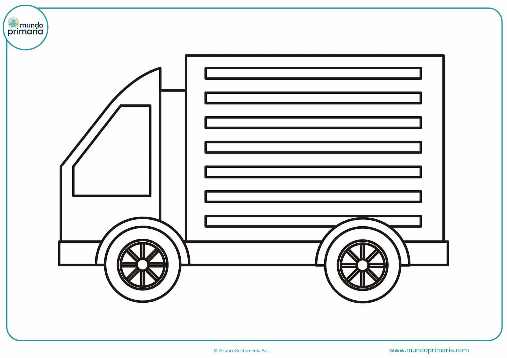 Dibujos De Camiones Para Colorear Mundo Primaria