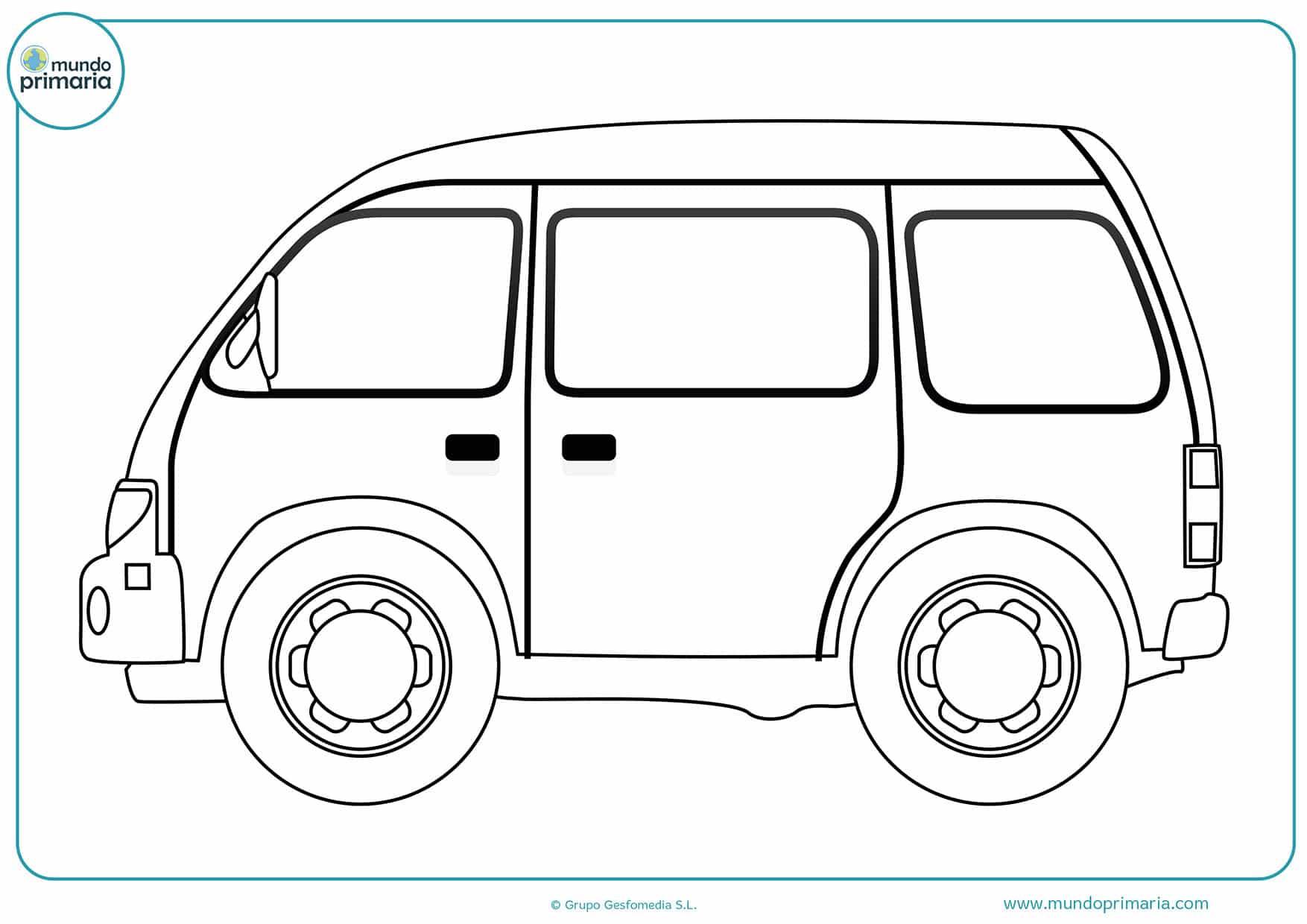 Colorear dibujos coches
