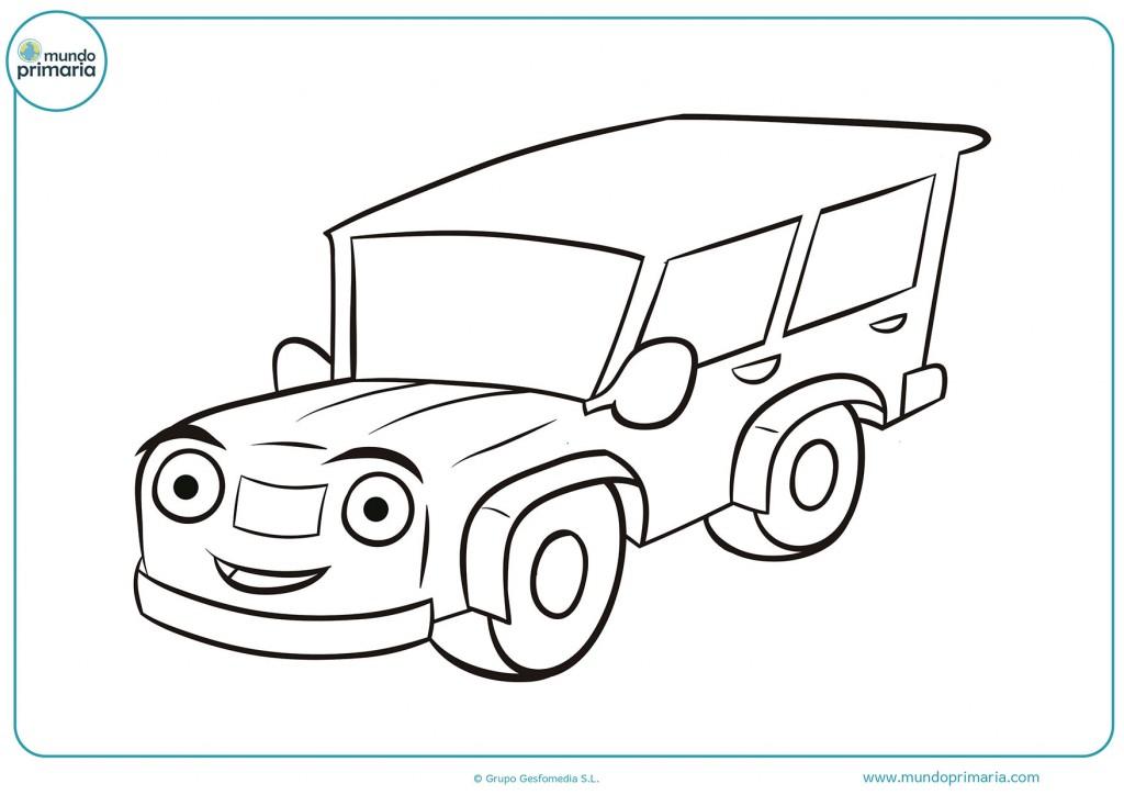Dibujo de un camión antiguo para pintar