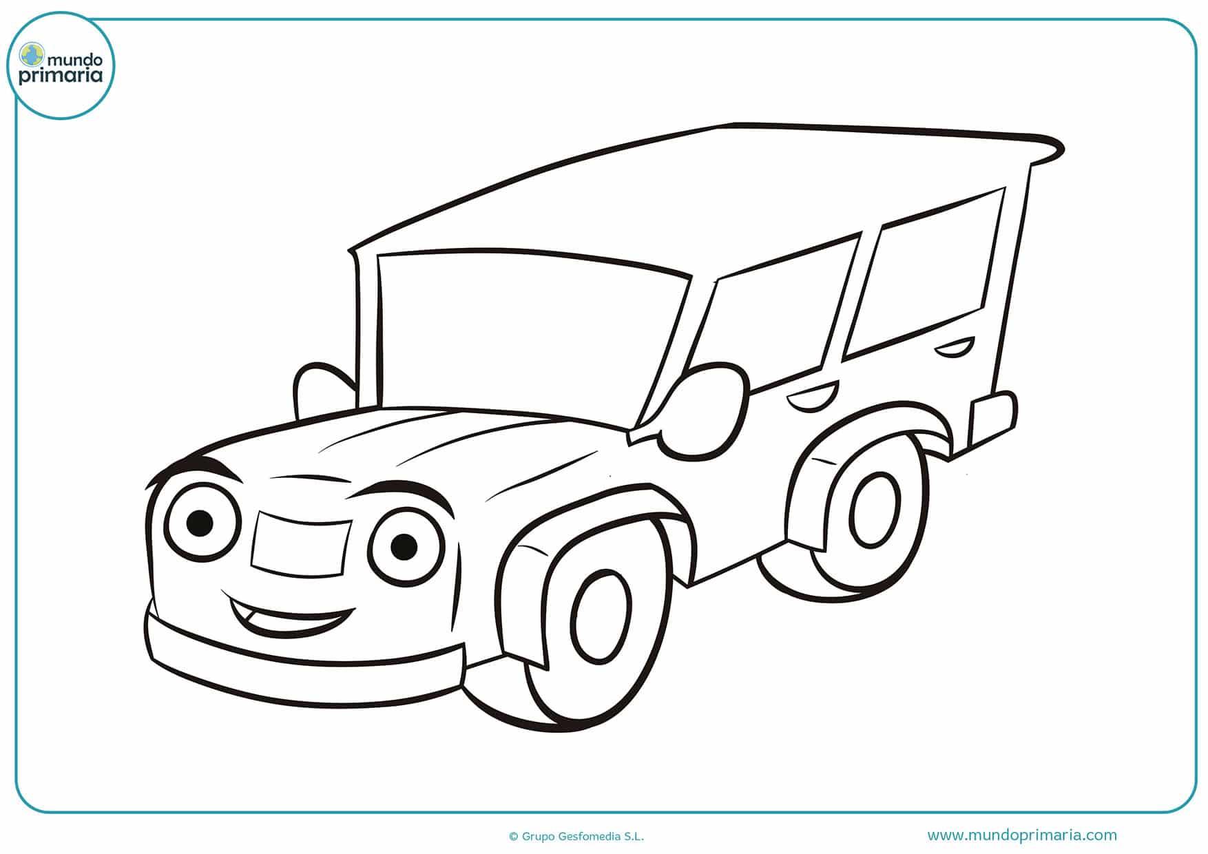 Dibujos colorear camiones