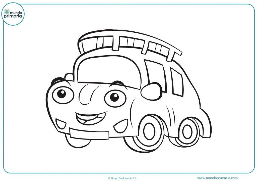 Dibujo para ponerle color al coche con baca