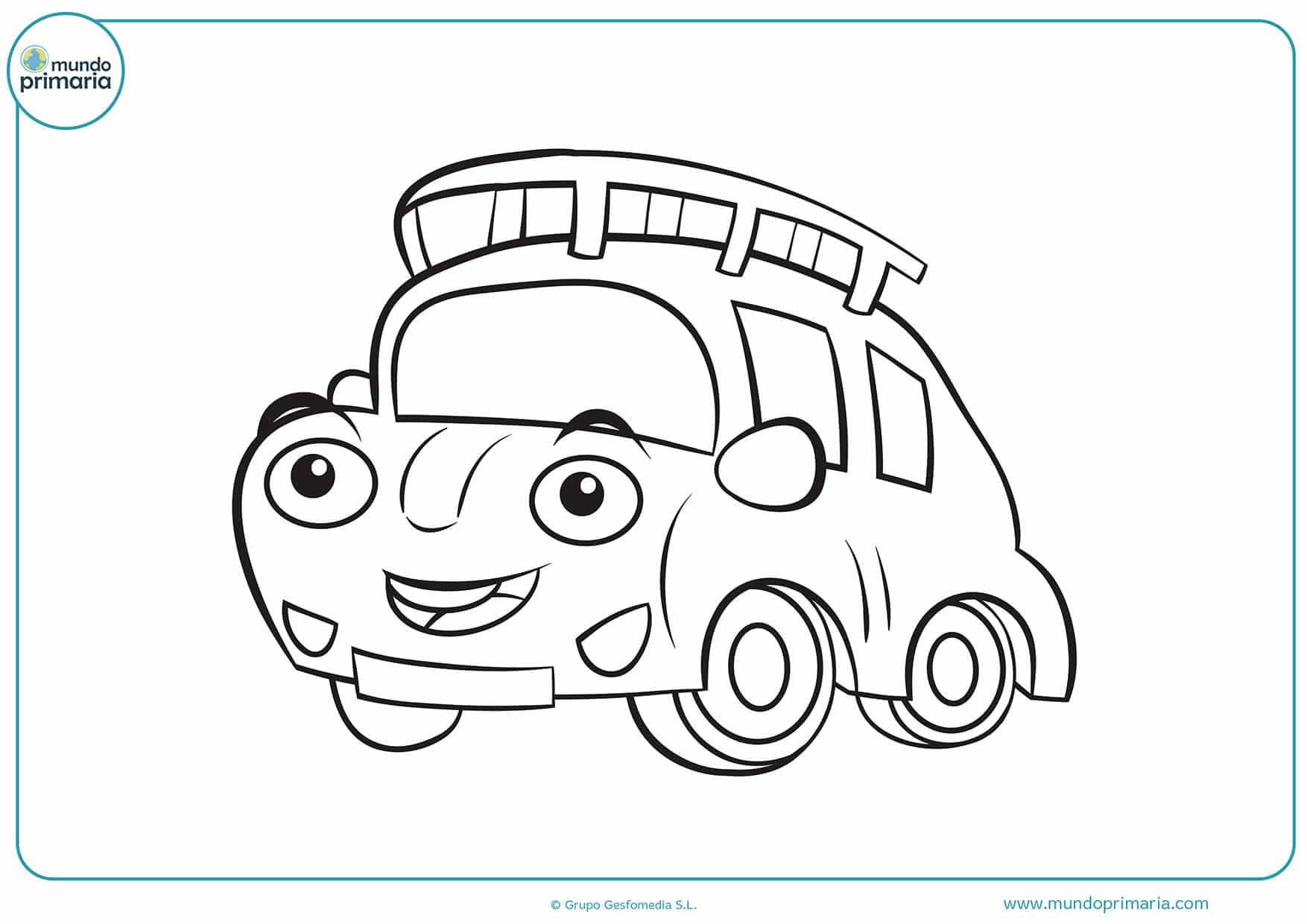 Dibujos colorear coche niñas