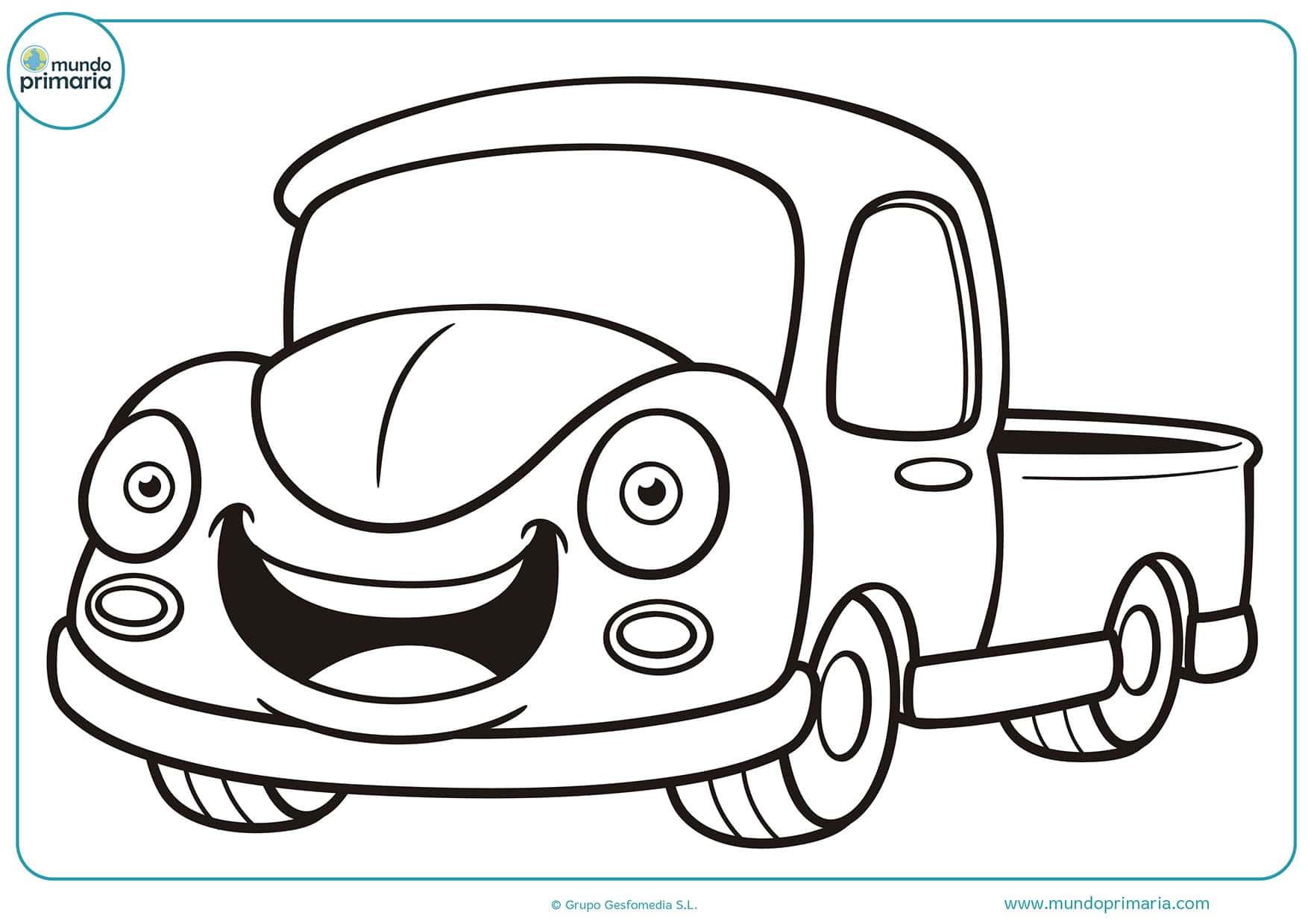 Dibujo camiones colorear e imprimir