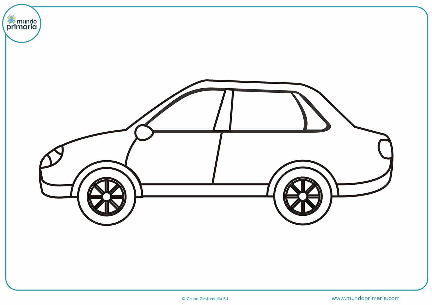 Dibujos coches colorear infantiles