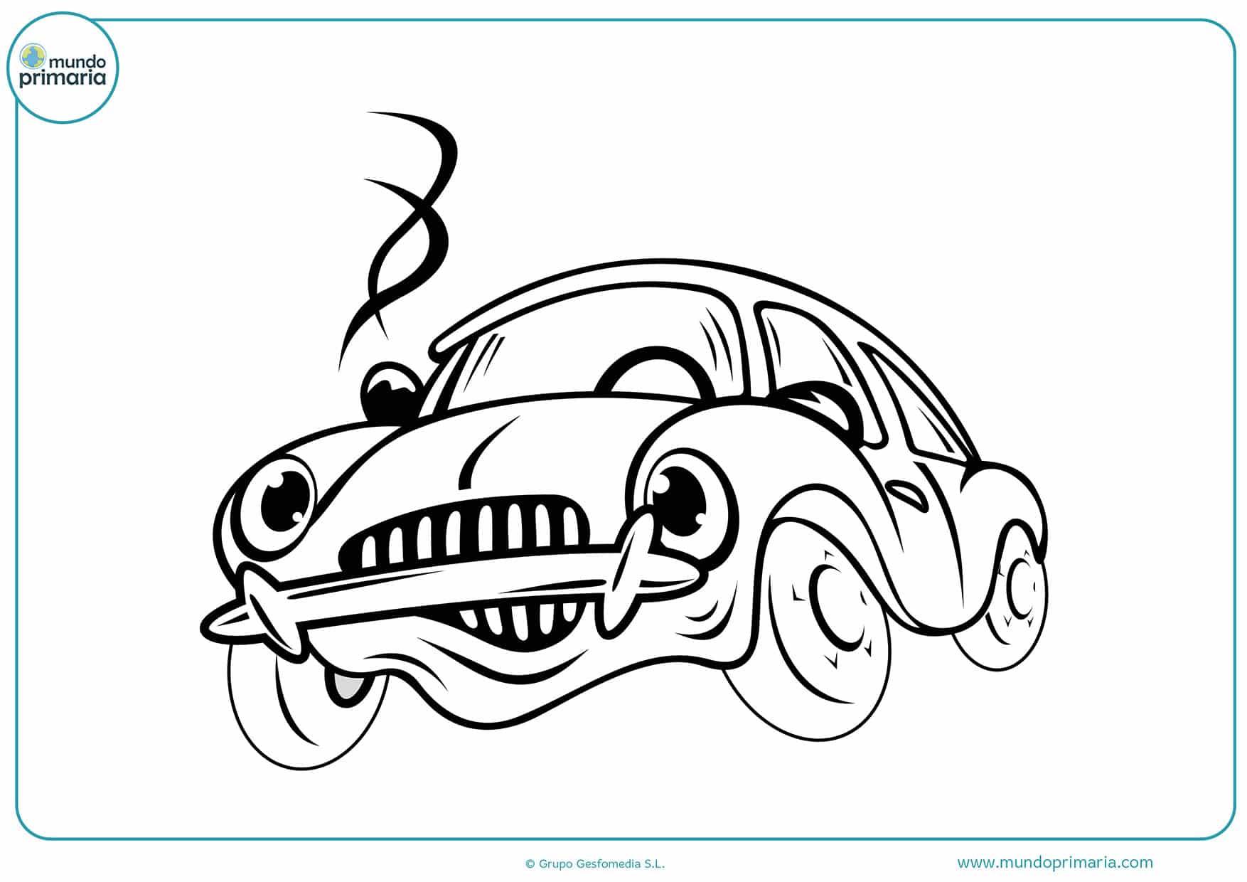 Dibujos coches colorear para imprimir