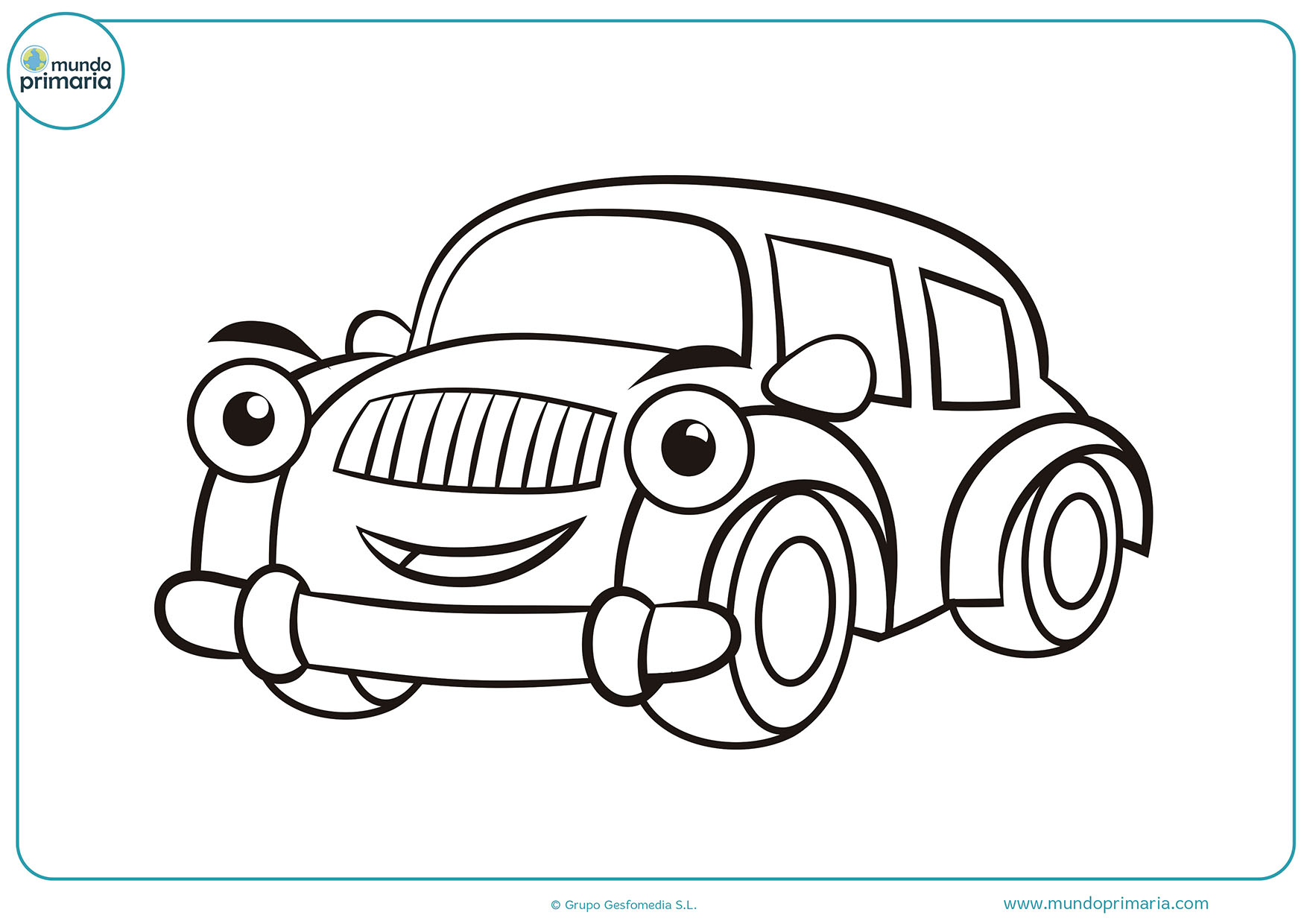 Colorear dibujos coches gratis