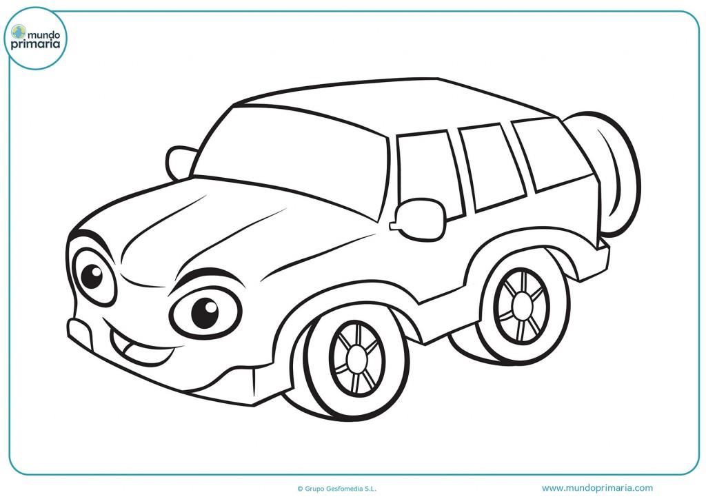 Dibujo de un coche con un neumático extra