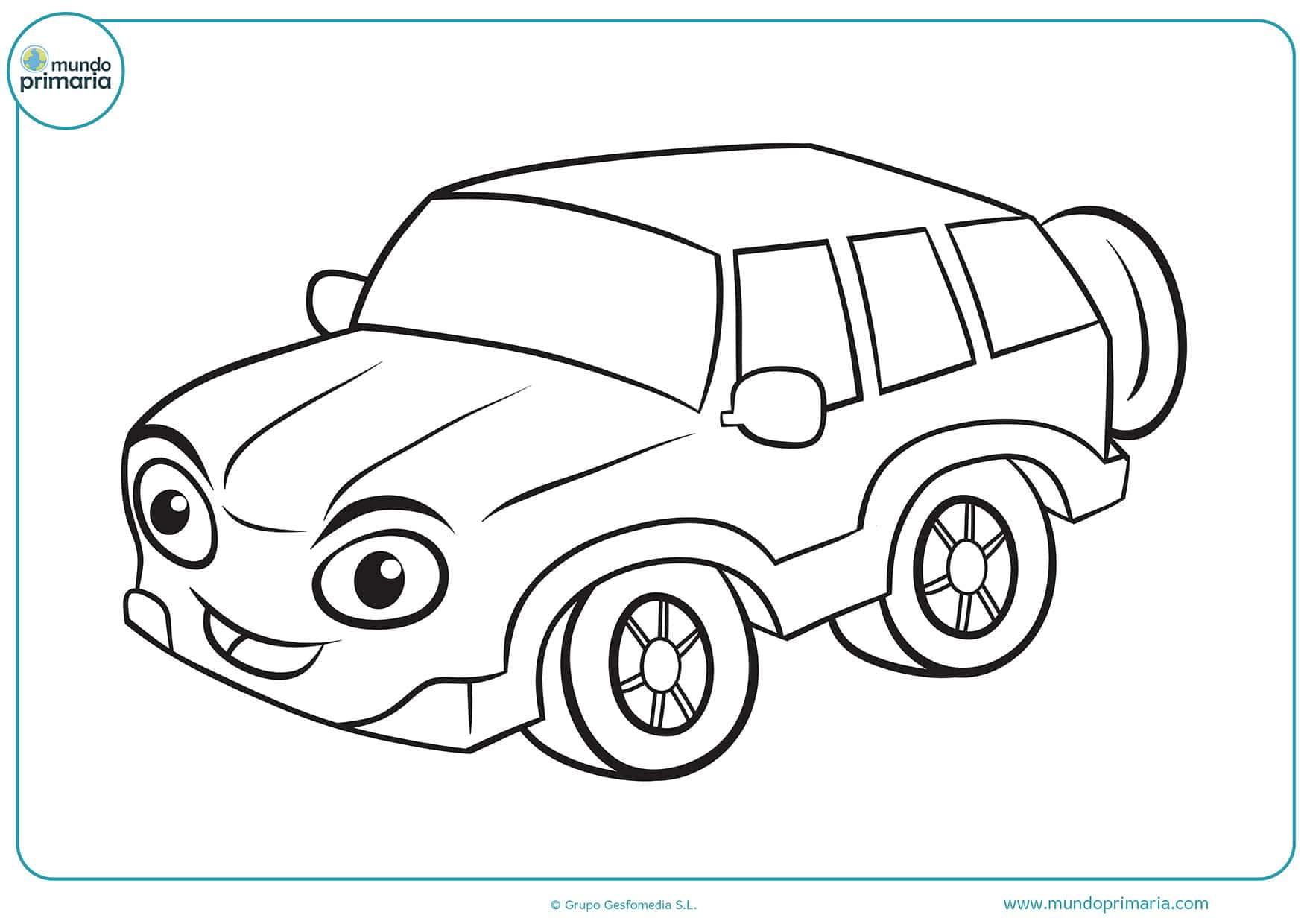 Dibujos coches para pintar