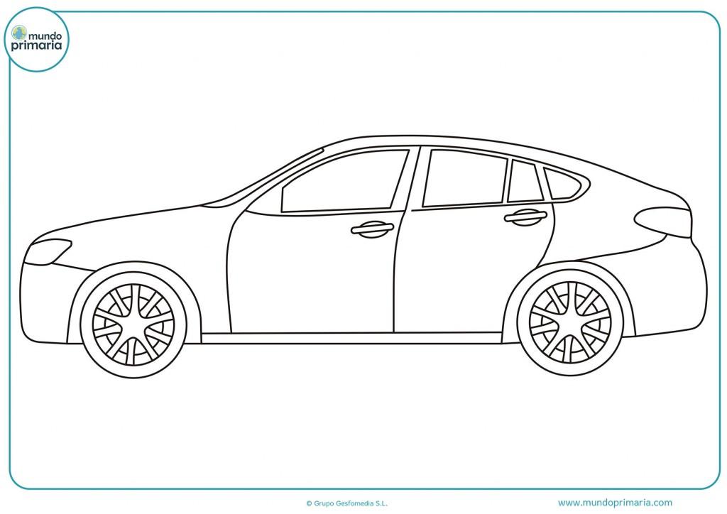 Colorea el coche aparcado para completar el dibujo