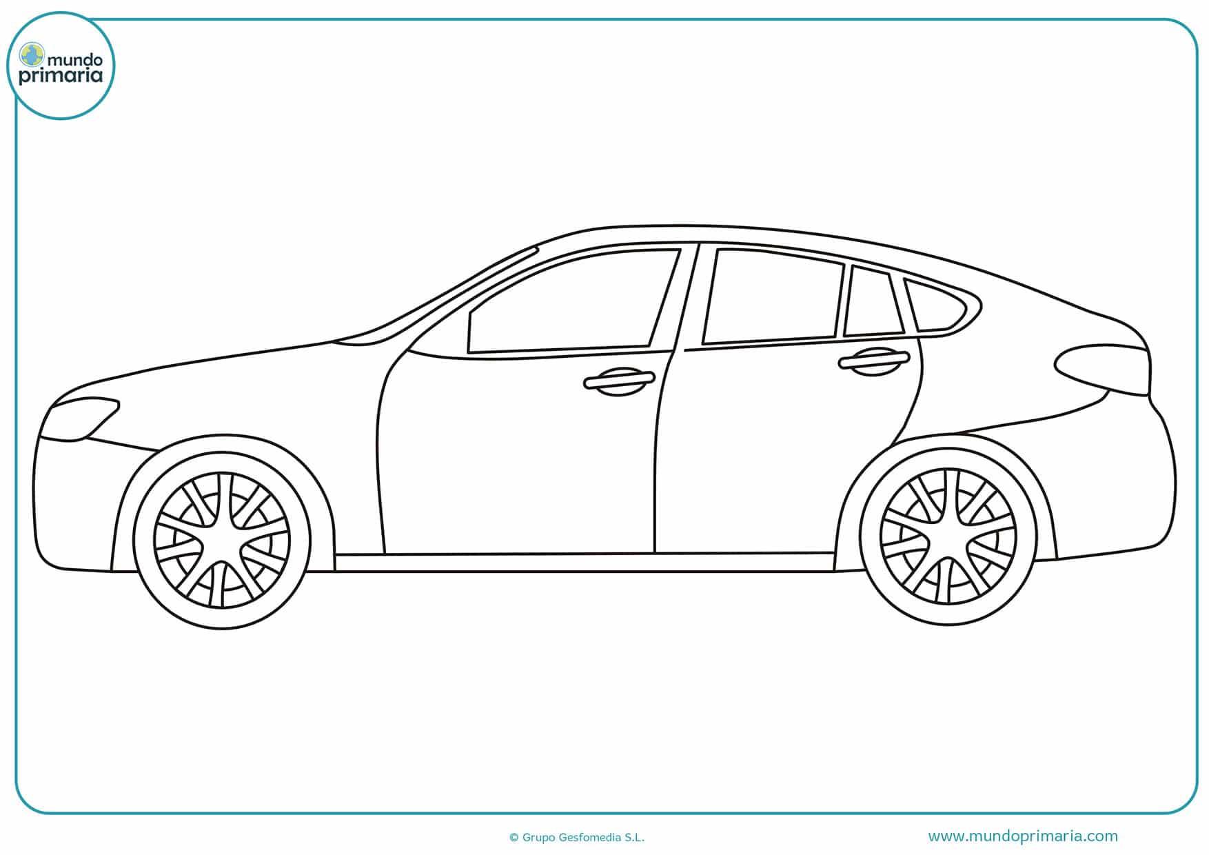 Dibujos coches fáciles colorear