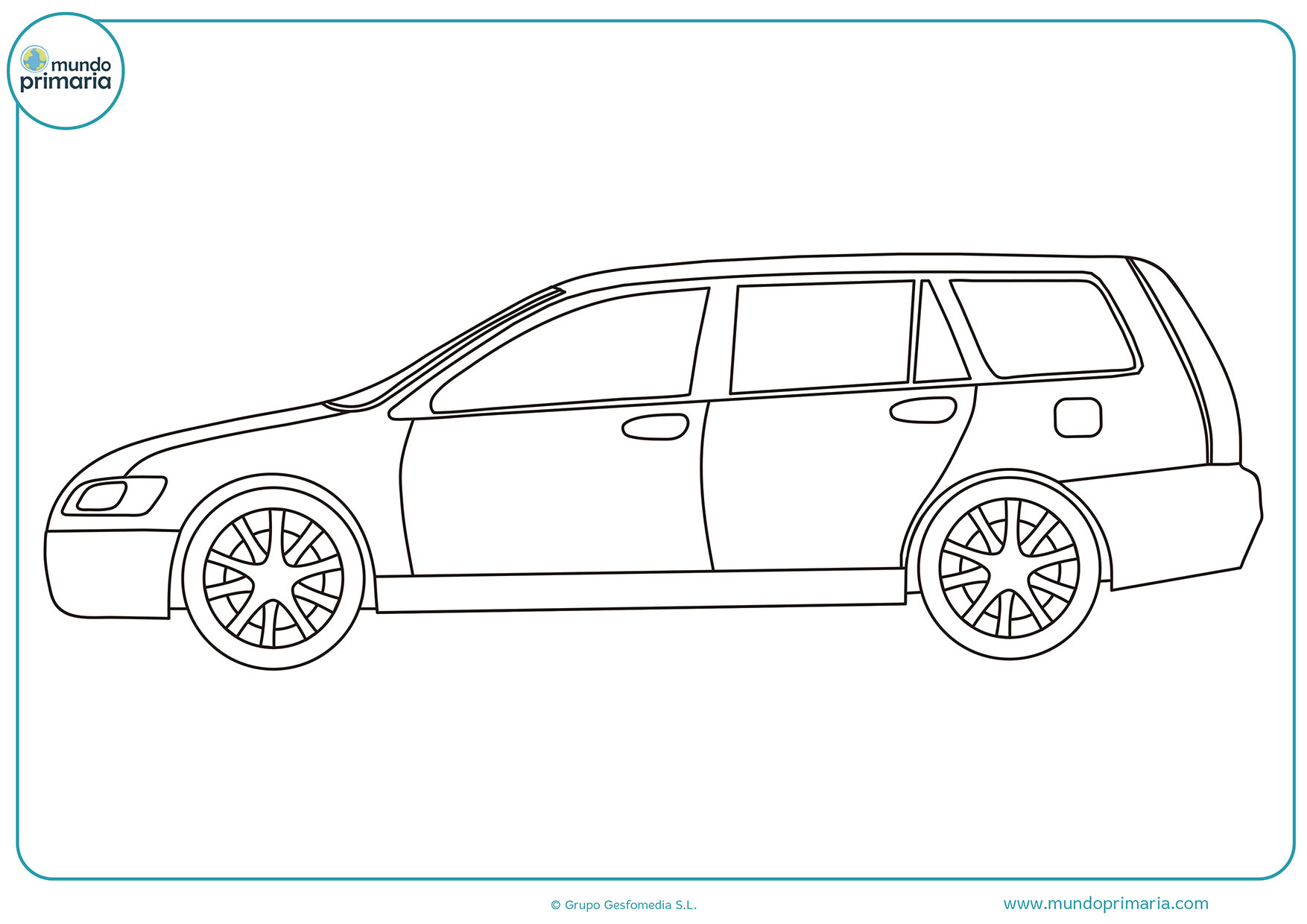 Dibujos colorear coches para pintar