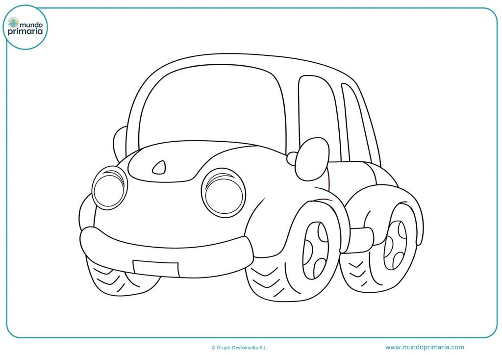 Escoge tus colores favoritos y pinta el coche