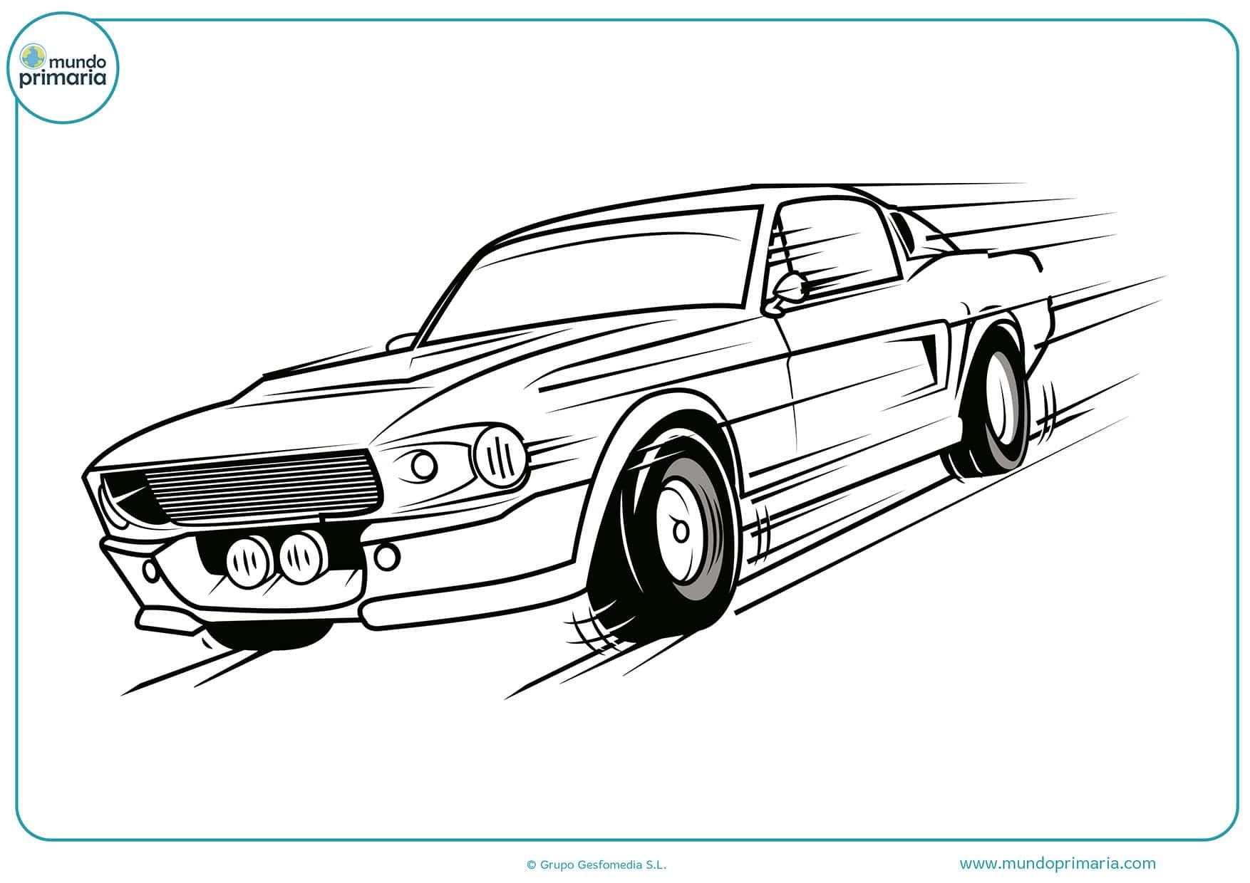 Colorear dibujos coches carreras