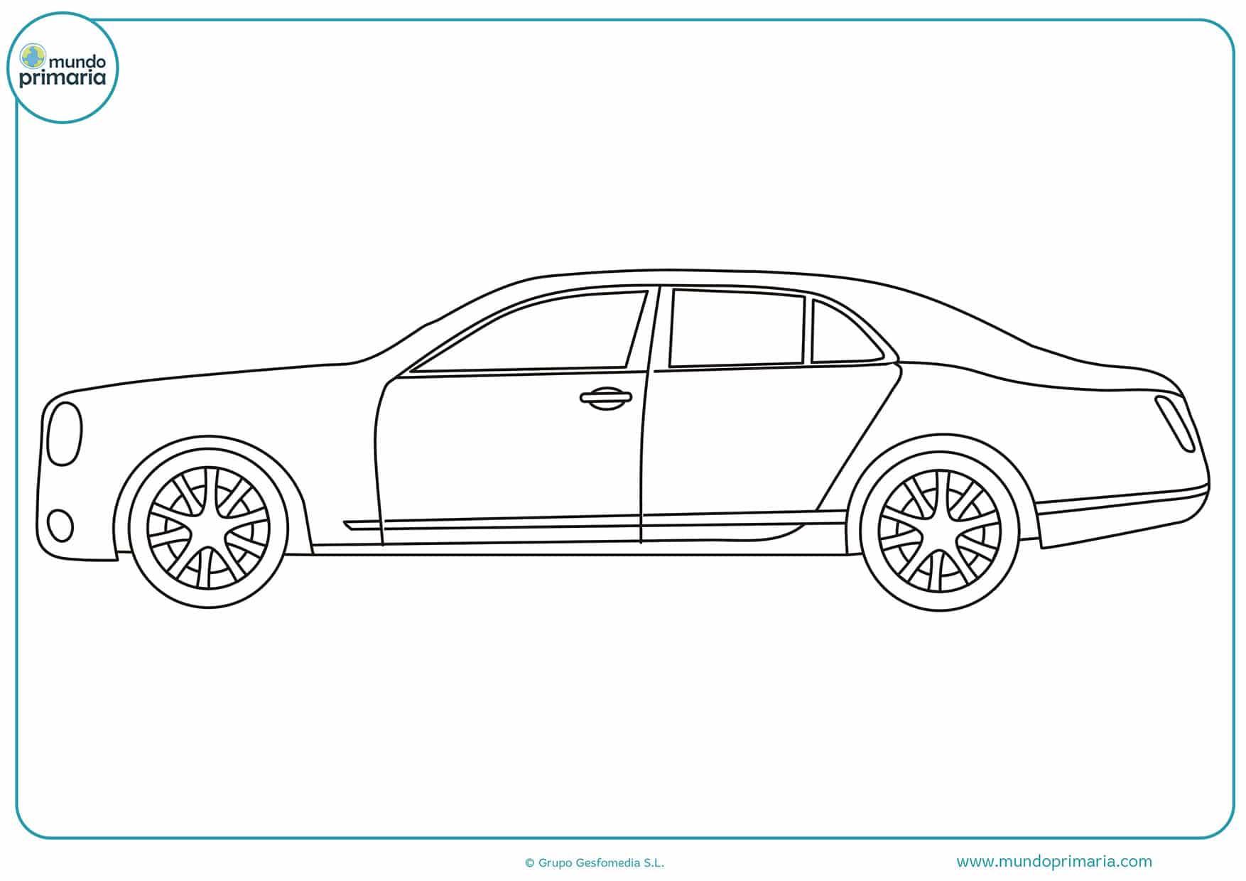 Dibujo De Autos Tuning Para Colorear En Tu Tiempo Libre Dibujos 5: Dibujos De Autos Fciles Dibujos De Coches Para Colorear