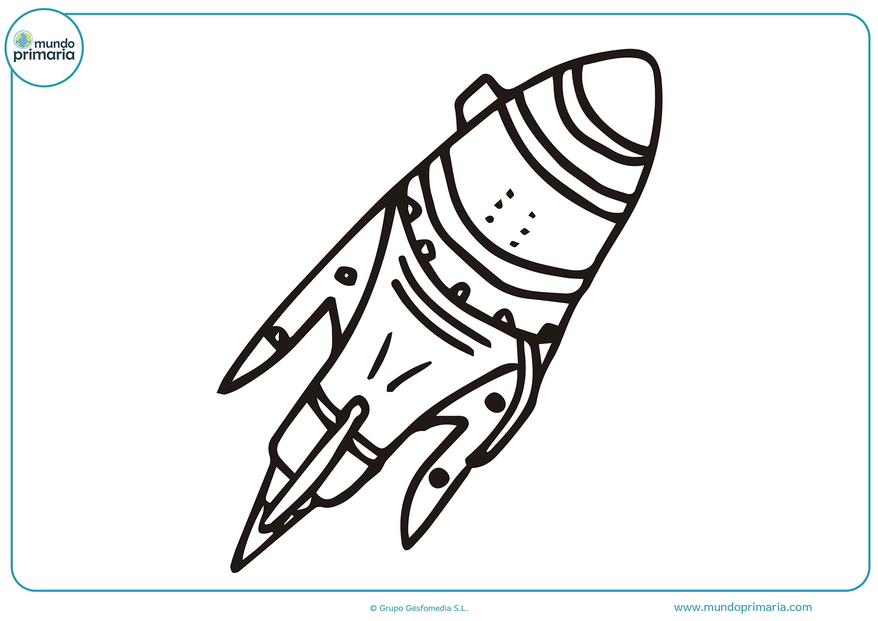 Dibujos colorear cohetes