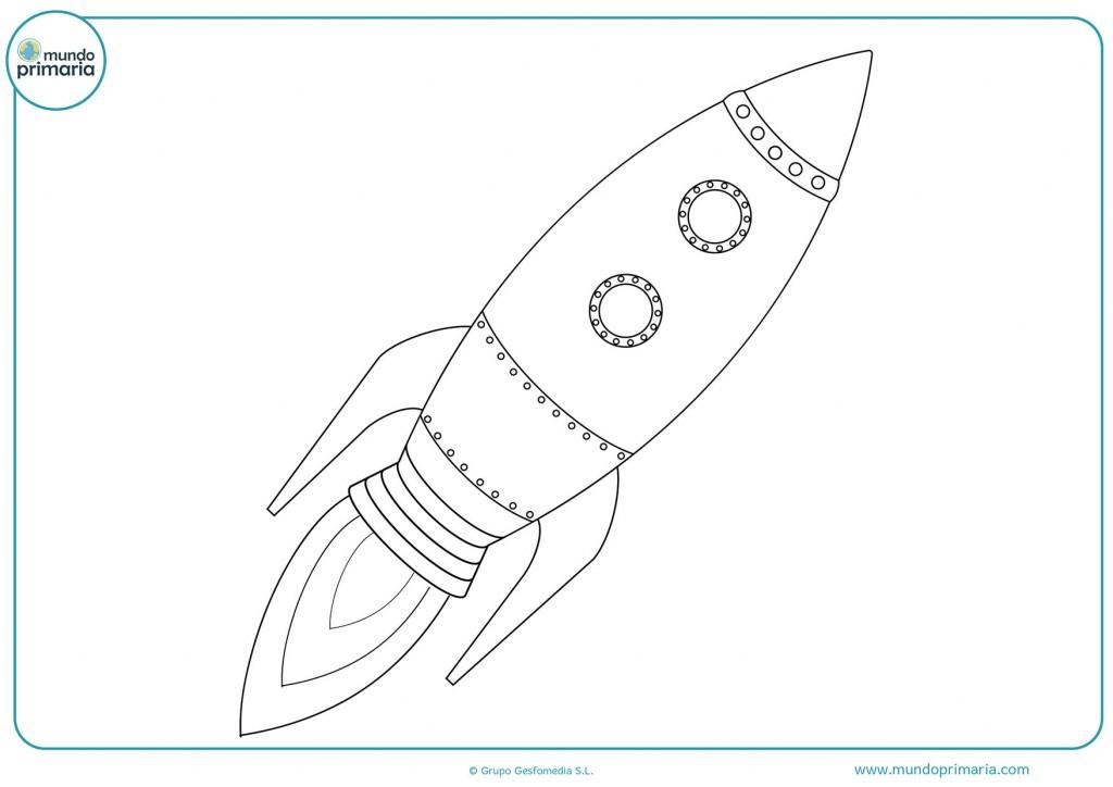 Usa colores oscuros para pintar el cohete