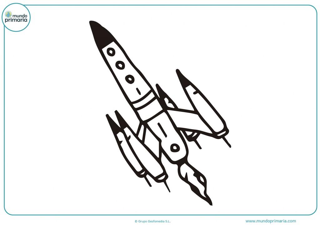 Cohete aterrizando para colorear