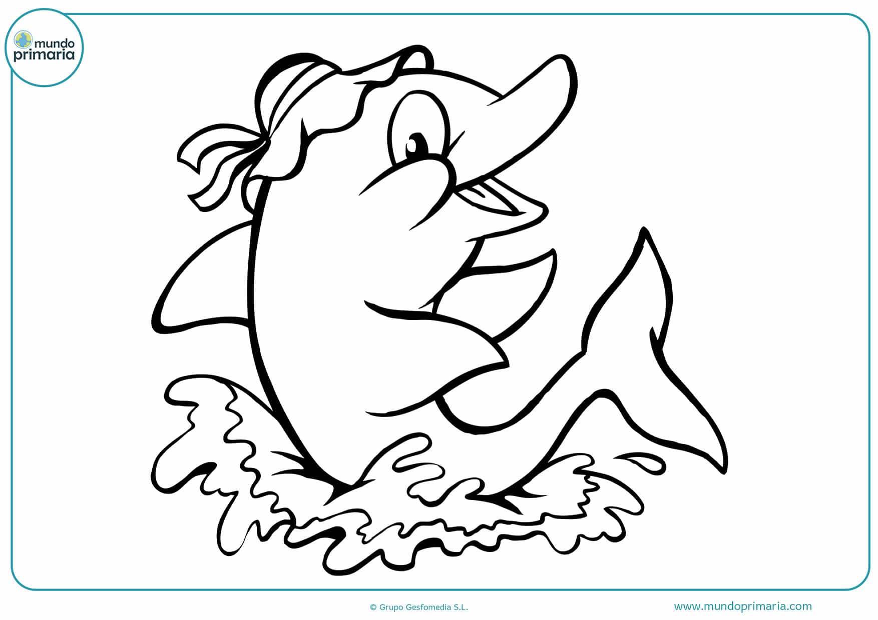 Dibujos colorear delfines niños