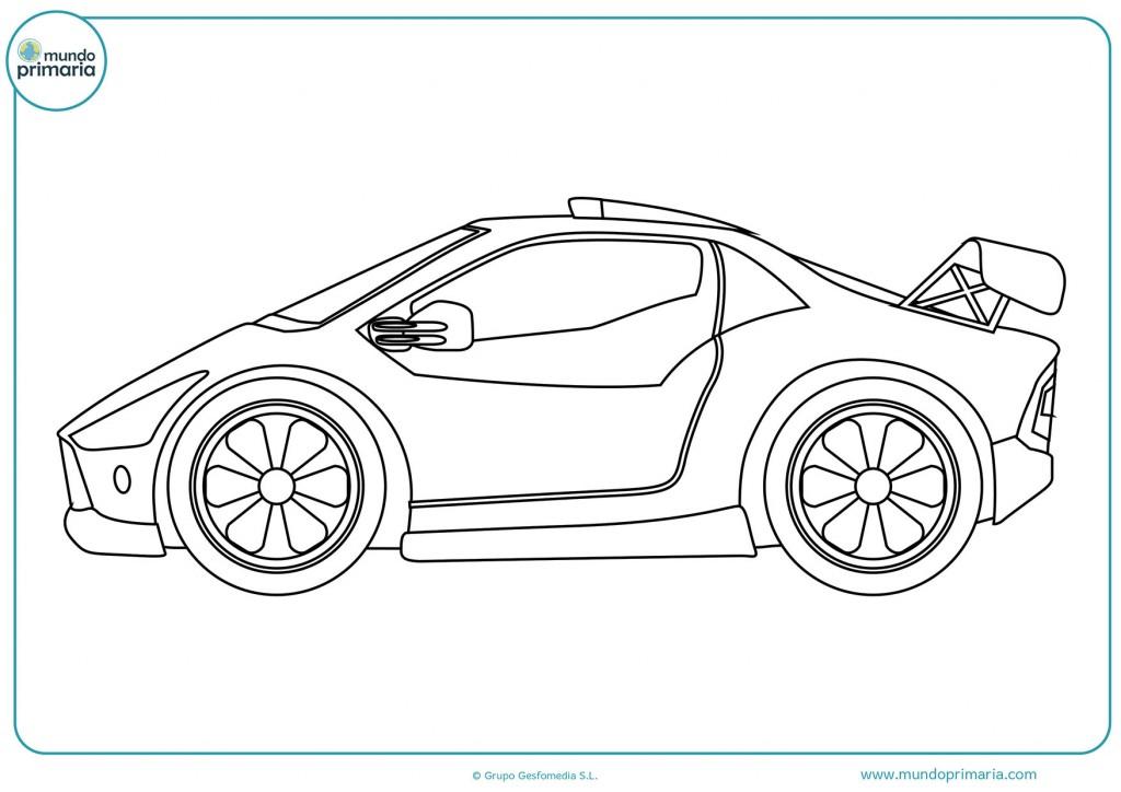 Usa tus mejores colores para pintar este coche deportivo