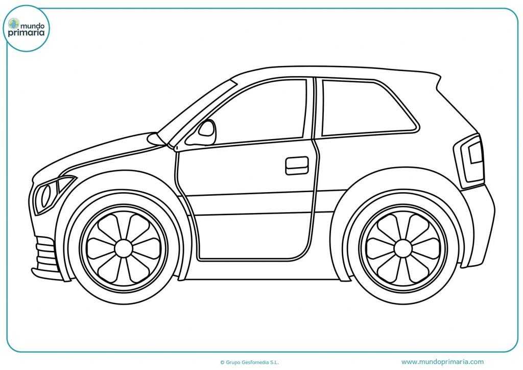 Pinta el dibujo del coche deportivo pequeño
