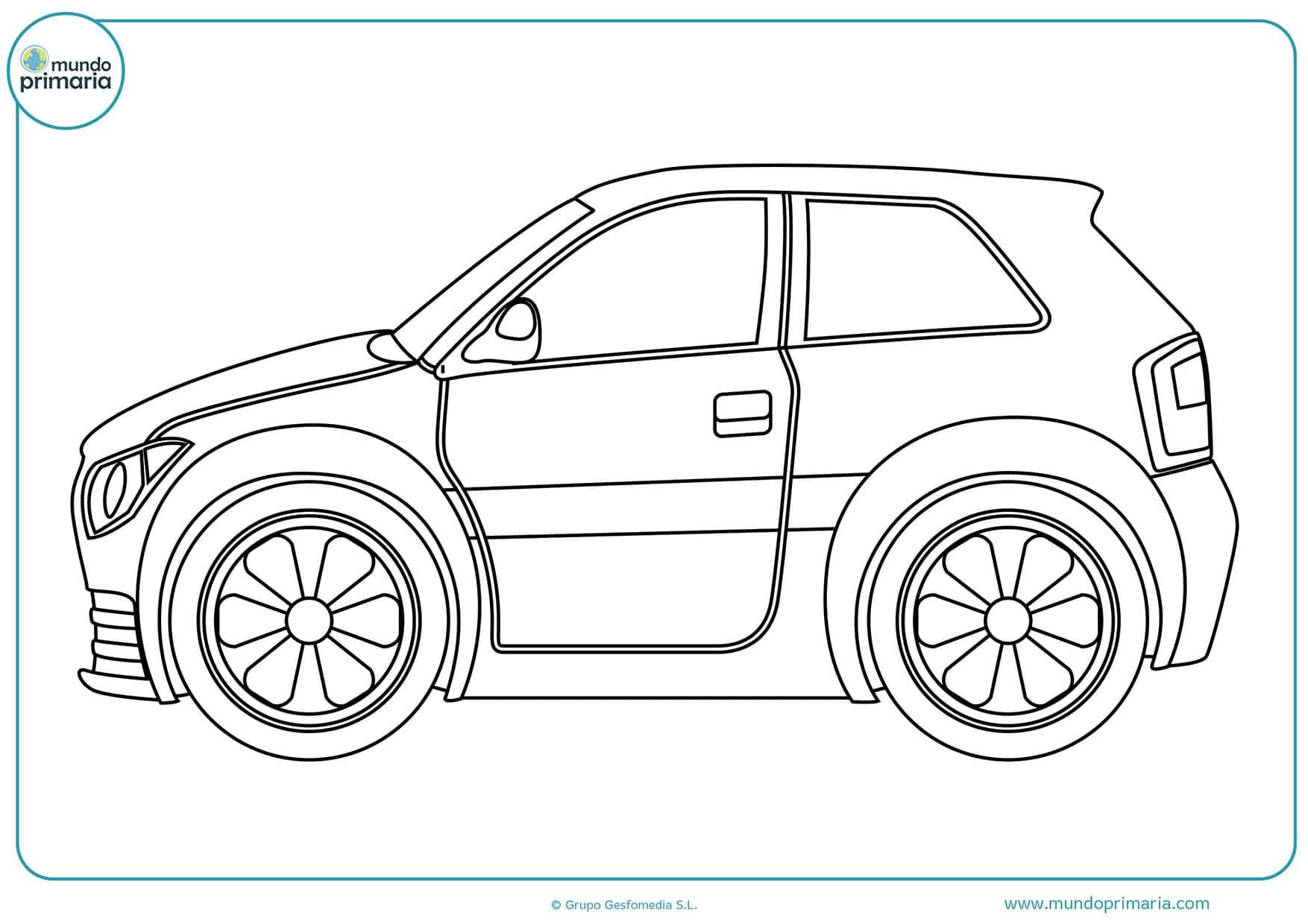 Dibujos colorear carros para pintar