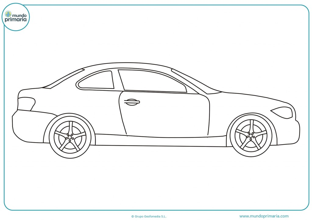 Colorear dibujo de un auto deportivo viejo