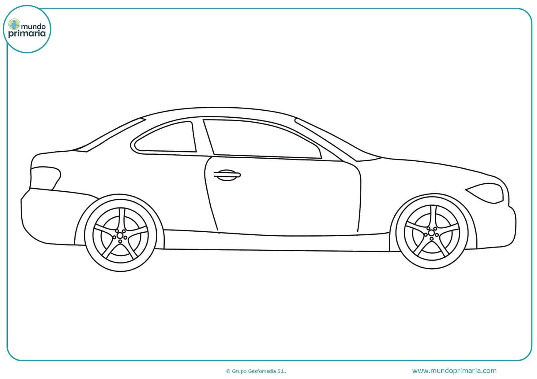 Dibujos carros fáciles colorear