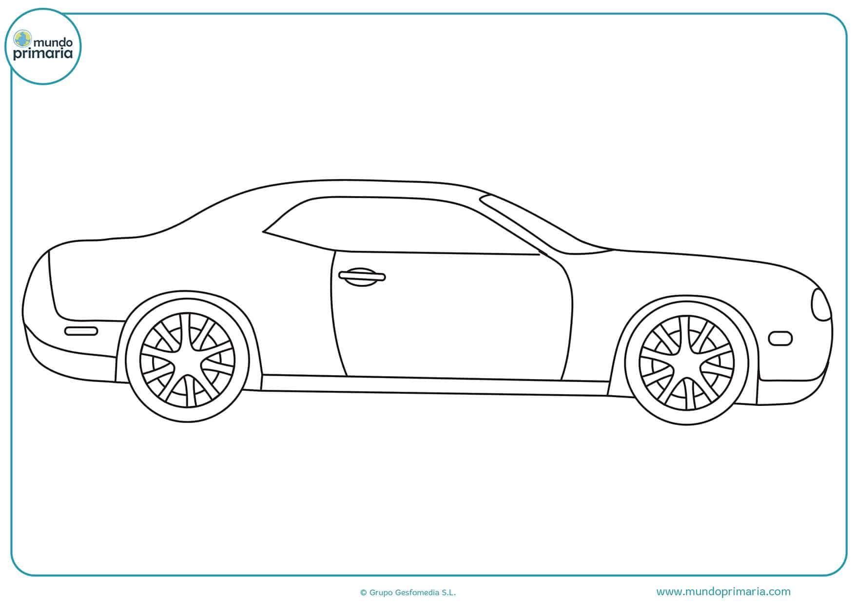 Dibujos carros para pintar