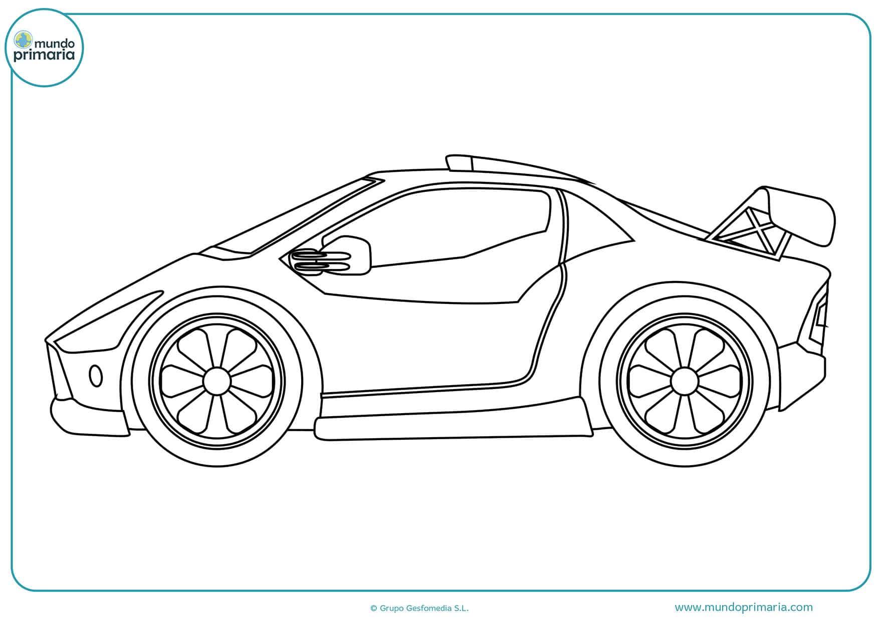 Dibujos de coches para colorear - Mundo Primaria