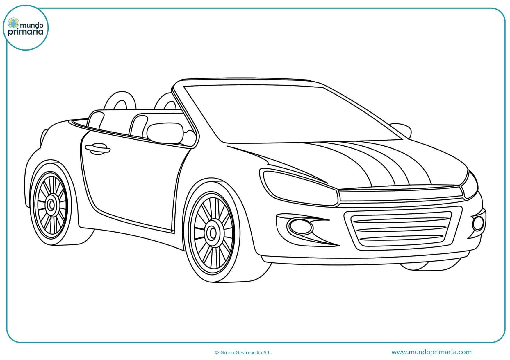 Dibujos carros colorear para imprimir