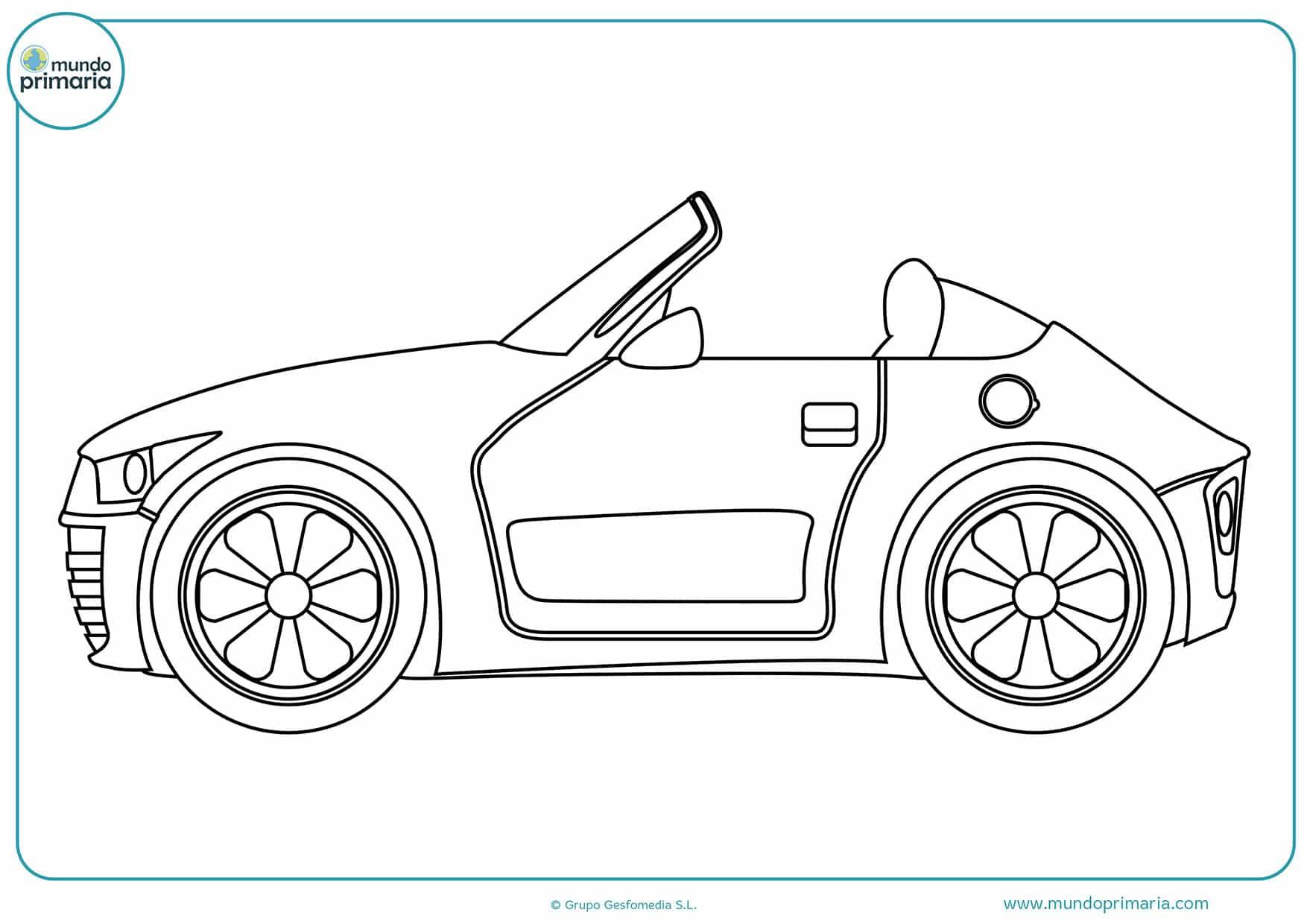 Colorear dibujos carros gratis
