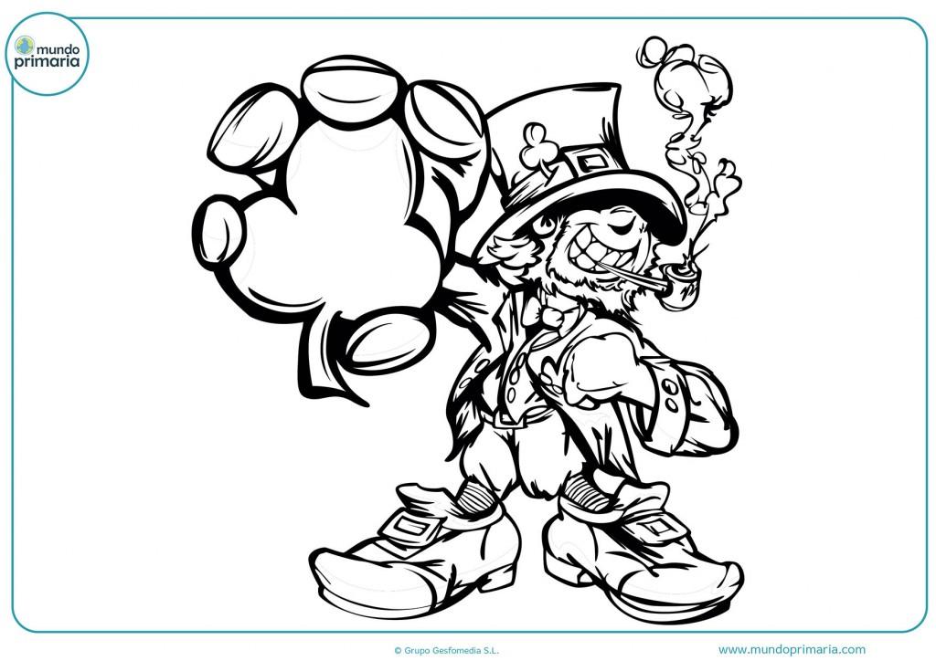 Dibujo del gran duende trébol para colorear