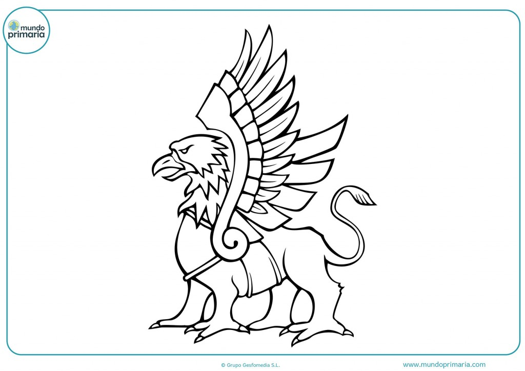 Colorea el esfinge y sus grandes alas con colores