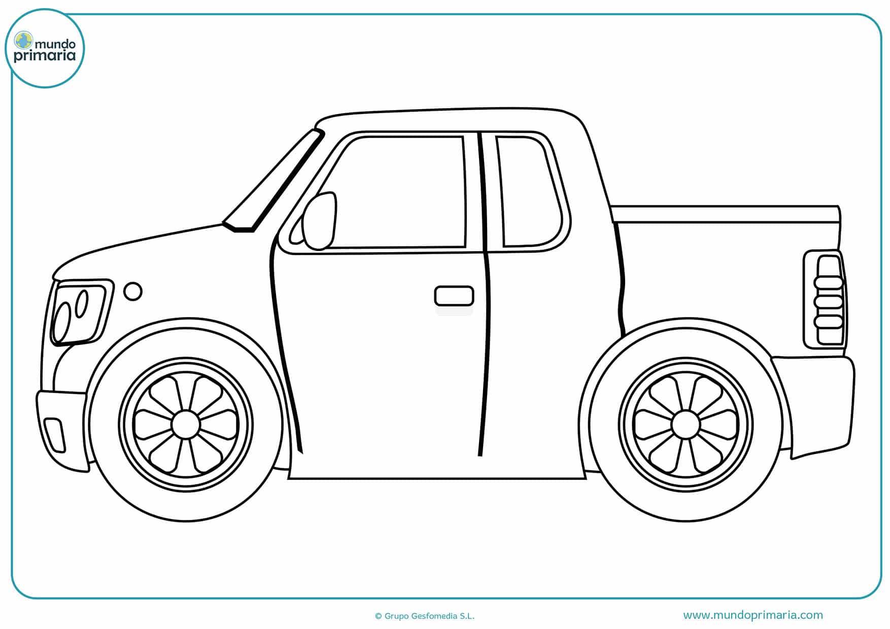 Dibujos colorear carros primaria
