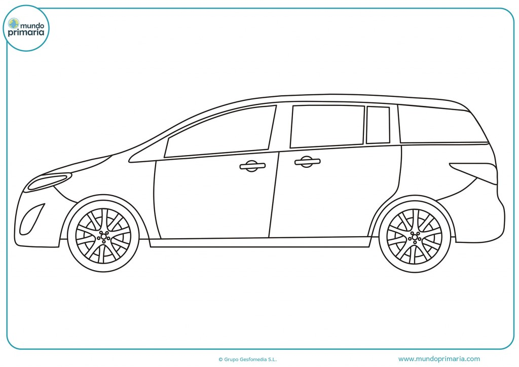 Dibuja el coche monovolumen para completarlo